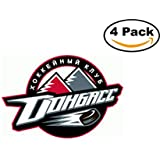 fan products of Hockey HC Donbass Logo 4 Stickers 4X4 Inches Car Bumper Window Sticker Decal