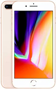Apple iPhone 8 Plus (128GB, Gold) [Carrier Locked] + Carrier Subscription [Cricket Wireless] ($10/Month Amazon