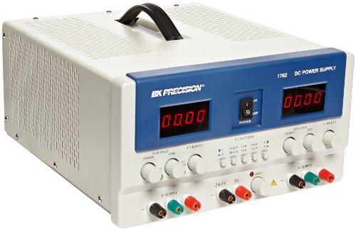 B&K Precision 1762 Triple Output DC Power Supply with 4 Digit LED Display, (A & B) 0-60V, 0-2A, (C) 2-6.5V, 5A by B&K Precision