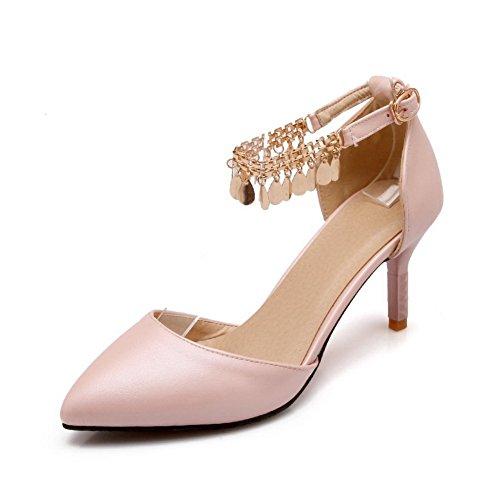 shoes Mesdames robe imitation Rose franges balamasa cuir à pumps 7awqUw0Px
