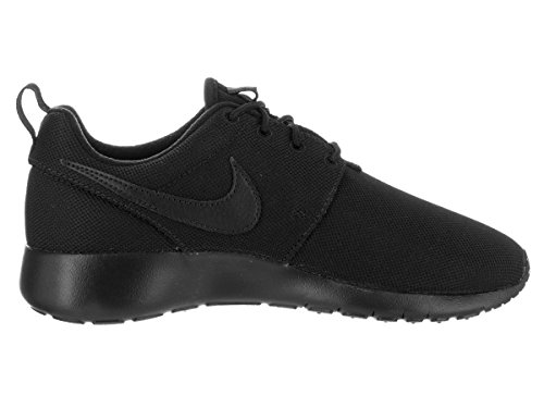 Image of the NIKE Kids Roshe One (GS) Black/Black Black Running Shoe 6 Kids US Black/Black/Black