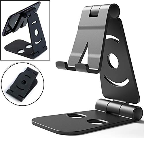 Foldable Phone/Tablet Stand, Universal Smart Phone Holder, [ABS] Plastic Mobile Phone Holder for iPhone X 8 7 6 6s Plus Se 5 5s 5c iPad and Most Android Smartphones