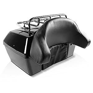 Baul custom Coffin Vramack Seven 43L con respaldo y parrilla ...