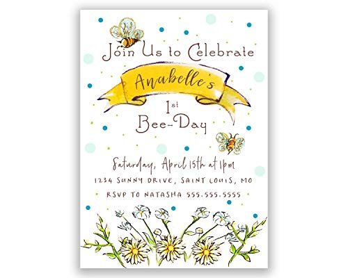 Bee-Day | Birthday Party Invitation | Personalized ()