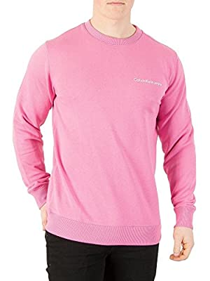 Calvin Klein Jeans Men's Logo Sweatshirt, Pink