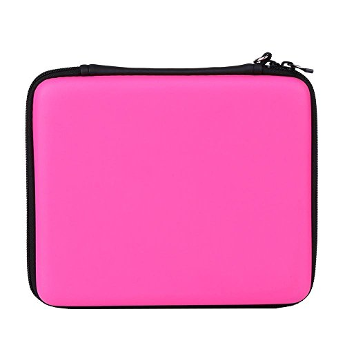 Asiv Hard EVA Protective Storage Zip Travel Case Cover Bag Holder with Carry Handle for Nintendo 2DS Pink