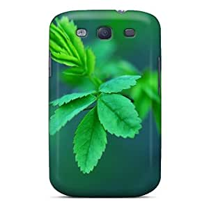 Galaxy S3 Cover Case - Eco-friendly Packaging(green Spring Leaves)