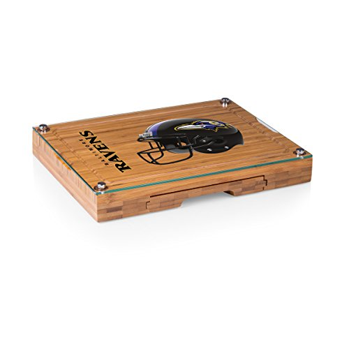 PICNIC TIME NFL Baltimore Ravens Concerto 5-Piece Cheese Board Serving Set (Board Cheese Ravens Baltimore)
