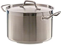 Update International (SPS-12) 12 Qt Induction Ready Stainless Steel Stock Pot w/Cover