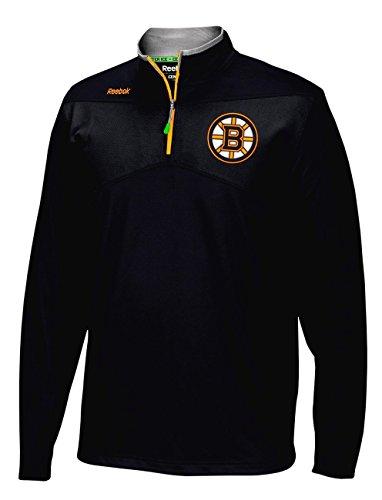 Reebok Men's Boston Bruins 2016 Center Ice Speedwick 1/4 Zip Sweatshirt Black Size Medium