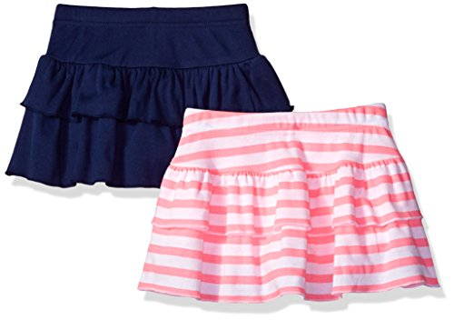 Gerber Graduates Toddler Girls' 2 Pack Skort, Pink Stripe/Navy, 3T Girls Skort Skirt Shorts