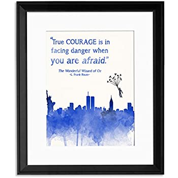 Amazon.com: ECHO-LIT True Courage Framed Children's Literature Inspirational Quote Poster for
