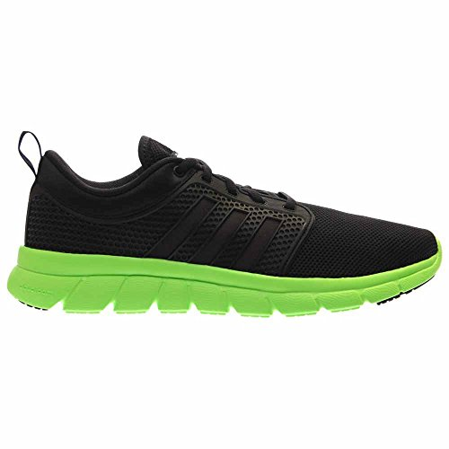 adidas NEO Men's Cloudfoam Groove Shoes,Black/Black/Green,7.5 M