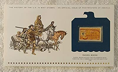 Daniel Boone - Daniel Boone Blazes the Wilderness Road Through the Cumberland Gap into Kentucky - Postage Stamp (1968) & Art Panel - History of the United States: an official issue of Postmasters of America - Limited Edition, 1979
