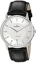 Edox Men's 56001 3 AIN Les Bemonts Analog Display Swiss Quartz Black Watch