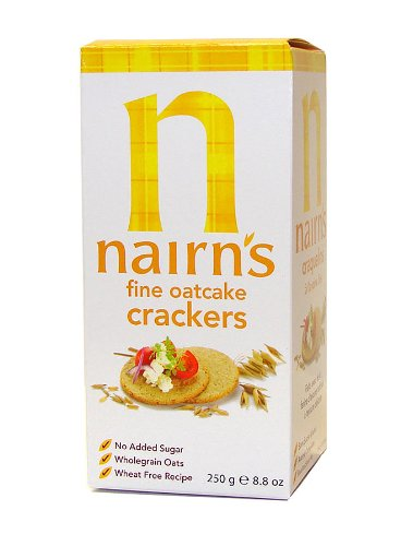 Nairn's Fine Oatcake Crackers (Yellow Box), 8.8-Ounce Boxes (Pack of 6) by Nairn's