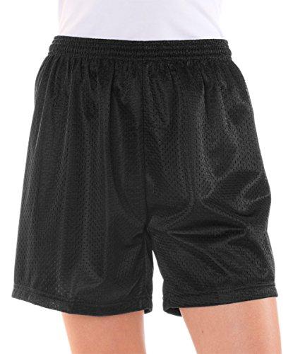 Badger Ladies Mesh Tricot Short, Black, Small