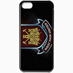 Personalized iPhone 5C Cell phone Case/Cover Skin Arsenal westham united football best Black
