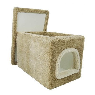 Amazon Com Cat Litter Box Furniture In Beige Carpet Large Cat