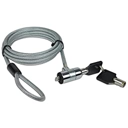 6 feet NoteGuard Kensington Compatible Universal Security Cable Lock with 2 Keys