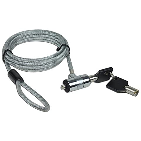 6 feet NoteGuard Kensington Compatible Universal Security Cable Lock with 2 Keys - Notebook Computer Lock