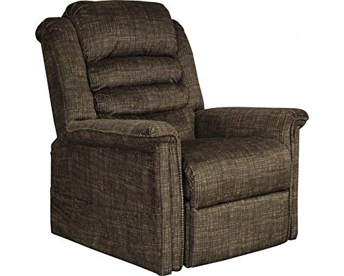 Catnapper Soother 4825 Power Full Lay-Out Lift Chair Recliner with Heat and Massage - Chocolate with in-Home Delivery and Setup (Furniture Glove Delivery White)