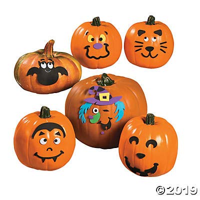 Small Pumpkin Faces Craft Kit - Crafts for Kids and Fun Home Activities: Toys & Games