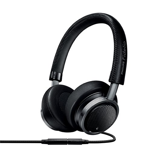 (Philips M1MKIIBK/27 Fidelio Headphones with Mic, Black)