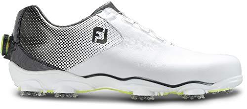 FootJoy Men's D.N.A. Helix Boa-Previous Season Style Golf Shoes White 10 M Black, US from FootJoy