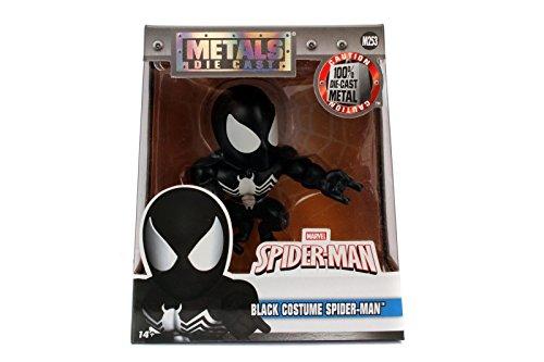 "Jada Toys Metals Marvel 4"" Classic Figure Black Suit Spiderm"