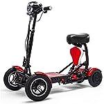 RXRENXIA Pieghevole Bici Elettrica, Litio delle Pile Biciclette Lectric Triciclo Scooter Leggero E Alluminio Pieghevole…
