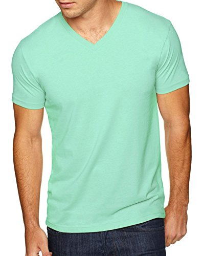 Next Level 6440 Premium Fitted Sueded V-Neck Tee Mint ()