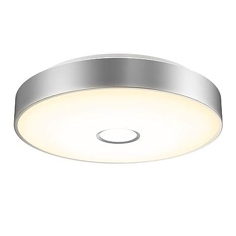 Onforu 18W LED Lámpara de Techo, IP65 Impermeable LED Plafón 1600LM para Salón Cocina Dormitorio Baño Pasillo, Igual al 180W Luz Interior Techo ...