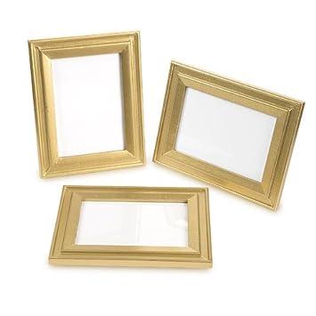 Amazon.com: David Tutera Gold Table Number Frames: Wood, 6.5 X 5 X ...