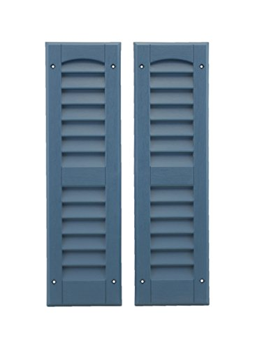 "Louvered Shed or Playhouse Shutters Blue 1 Pair 6"" x 21"" from Shed Windows and More"