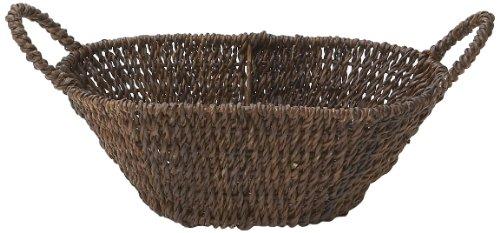 Woodard & Charles Abaca Oval Basket with Handles, 14-Inch