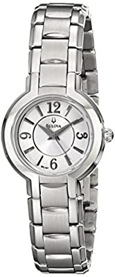 Bulova Women's 96L147 Dress Classic Round Stainless Steel Watch