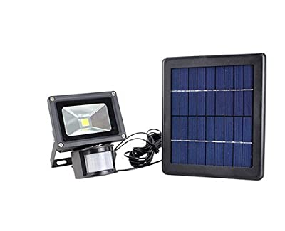 COCO Solar Night Light Kit,900 LM 6V/3W White Floodlights Spotlights Solar Panel Powered Motion Sense Security Lamp with Three-block Switch Waterproof Dusk to Dawn 8 Hours for Garden Patio Path Pool