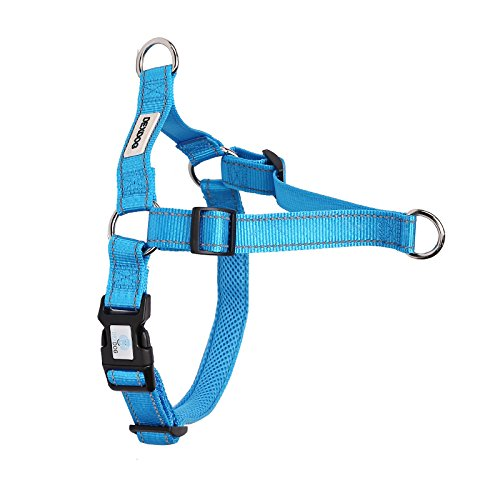 DEXDOG EZTrainer No Pull Front Attachment Clip Dog Harness for Training Running Comfort (X-Small, Blue)