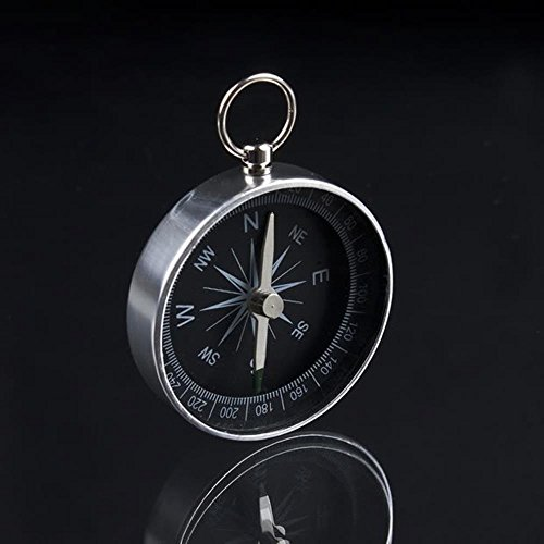 Lightweight Aluminum Camping traval Mini Compass Hiking Navigation American Style Metal compass