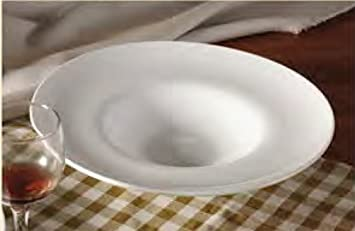 CAC China FDP-11 Paris-French Round 11-Inch 12-Ounce Super White Porcelain Thin Pasta Bowl Box of 12