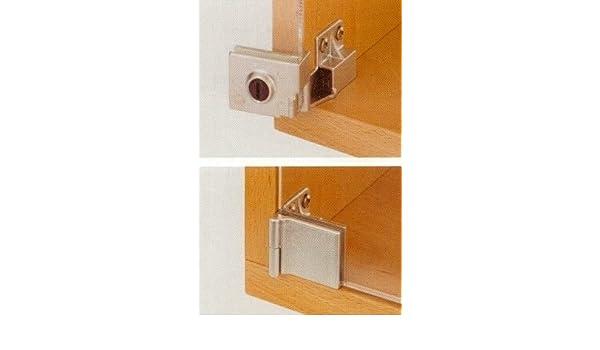 Bisagras para puertas de vidrio, sin perforación, a ras del vidrio: Amazon.es: Bricolaje y herramientas