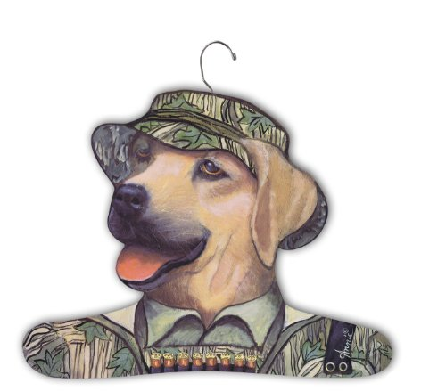 Stupell Home Décor Yellow Lab Wearing Camouflage Hat