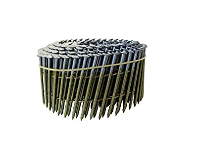 """Grip Rite Prime Guard GRC7R92HG1 15 degree Wire Weld Coil Exterior Galvanized Collated Fencing and Siding Nails, 2-3/16"""" x 0.092"""""""