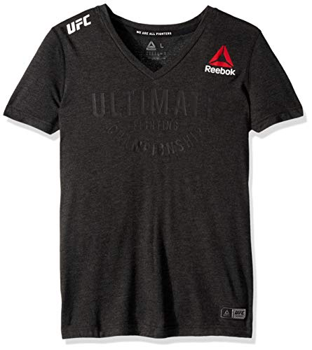 (Reebok UFC Ultimate Jersey, Black,)