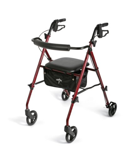 medline Freedom Lightweight Folding Aluminum Rollator Wal...
