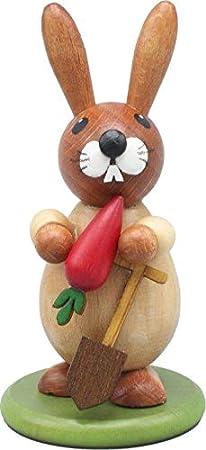 Rudolphs - Cofre del tesoro con forma de conejo de Pascua sobre zócalo natural y gaviota, altura de 9 cm: Amazon.es: Hogar