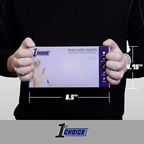 1st Choice Ivory Latex 4 Mil Thick Disposable Gloves, Large, Case of 1000 - Medical/Exam Grade, Powder-Free by 1st Choice (Image #3)