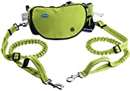 Thinkpet Hands Free Dog Leash for 6 Dogs - Adjustable Dual Bungee Running Leash with Multifunctional Waist Pac