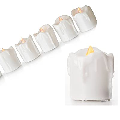 Flameless Candles Battery Operated - Best Flickering Votive 6 Set - 6Hr Timers - Child, Pet Safe